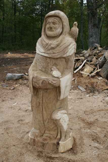 Final Work St Francis Wood Carving