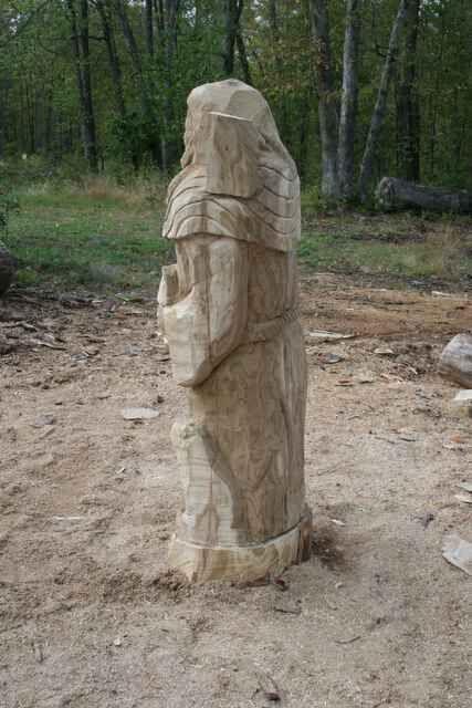 major shape established for st. francis carving