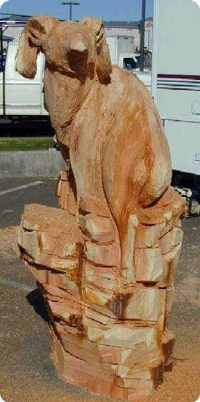 Ram Wood Carving front legs and shoulders