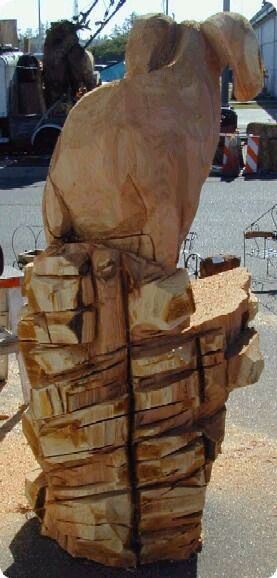 tried to carve rocks