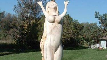 Wood Carving Female Figure
