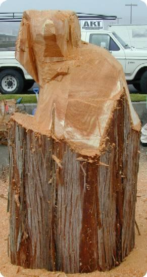 Ram head Wood Carving