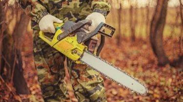 hold the chainsaw properly