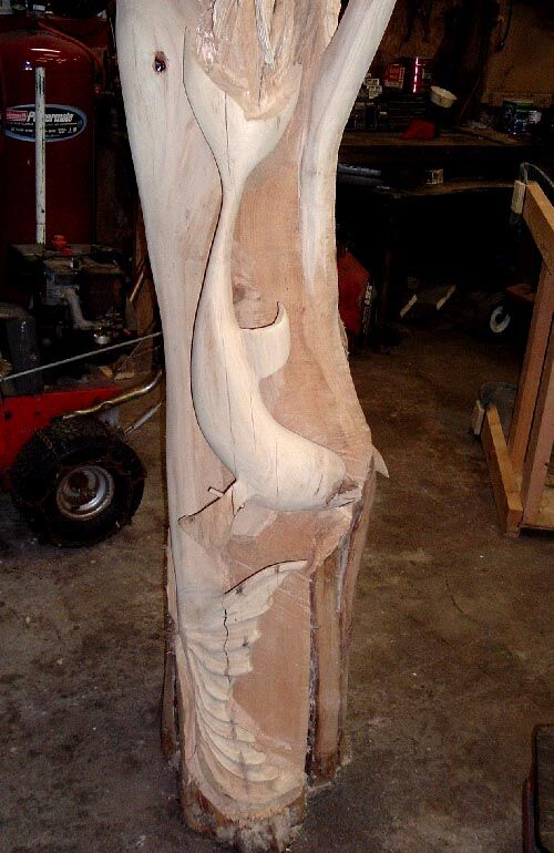 Due to drying & cracking I have had to dowel & epoxy the fin on the dolphin