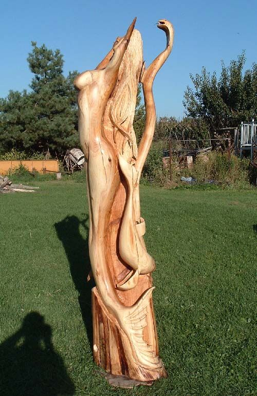 Final Mermaid Wood Carving done